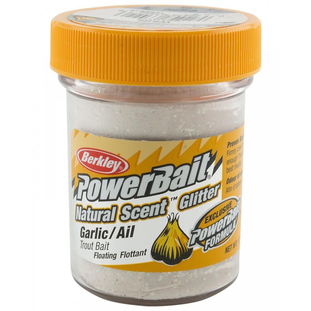 Berkley Powerbait Natural Scent Glitter White Garlic