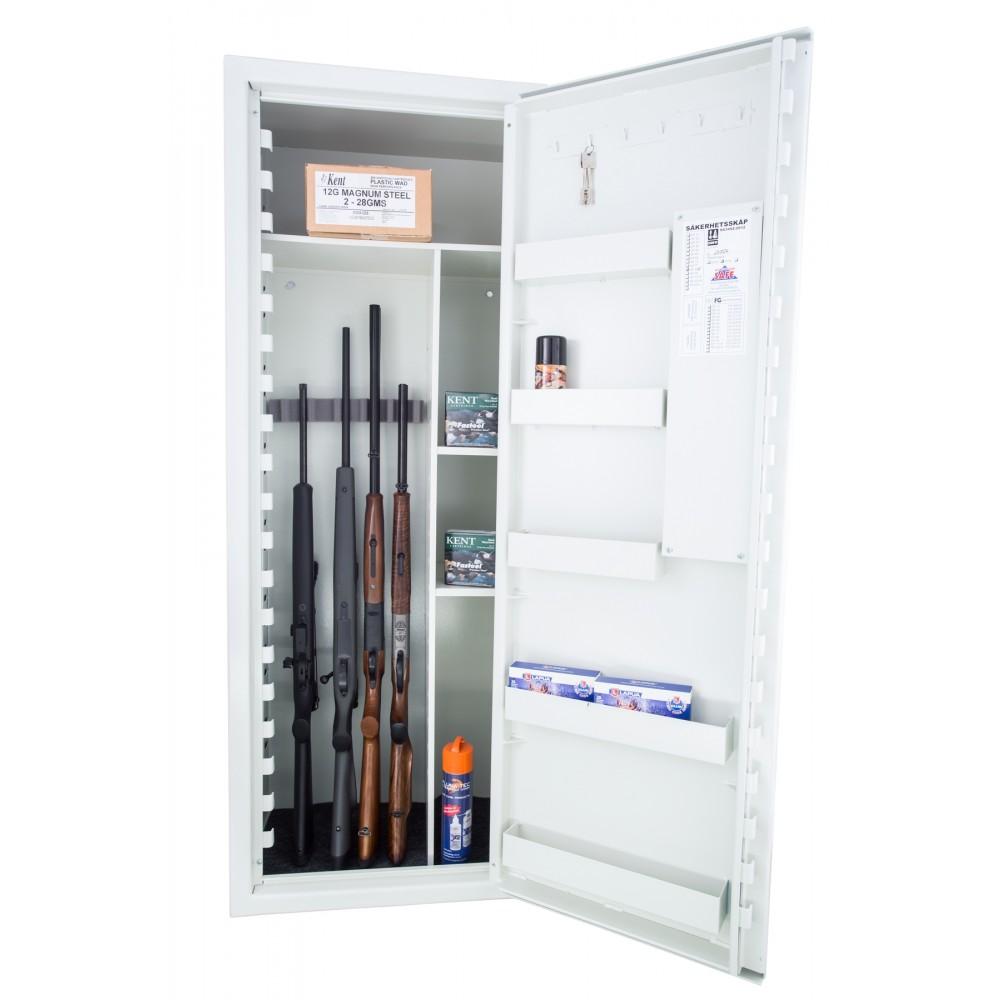 SP 88 Våbenskab til 9 Våben inkl. hylder m/elektronisk kodelås (FRAGTFRIT LEVERET)