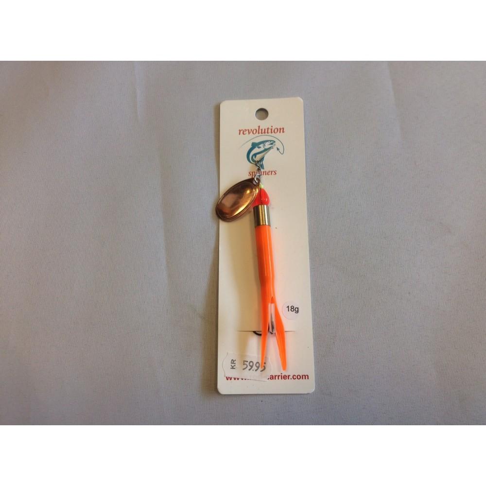 Revolution Kondom-spinner Fluo-orange m/kobberblad 18 gram