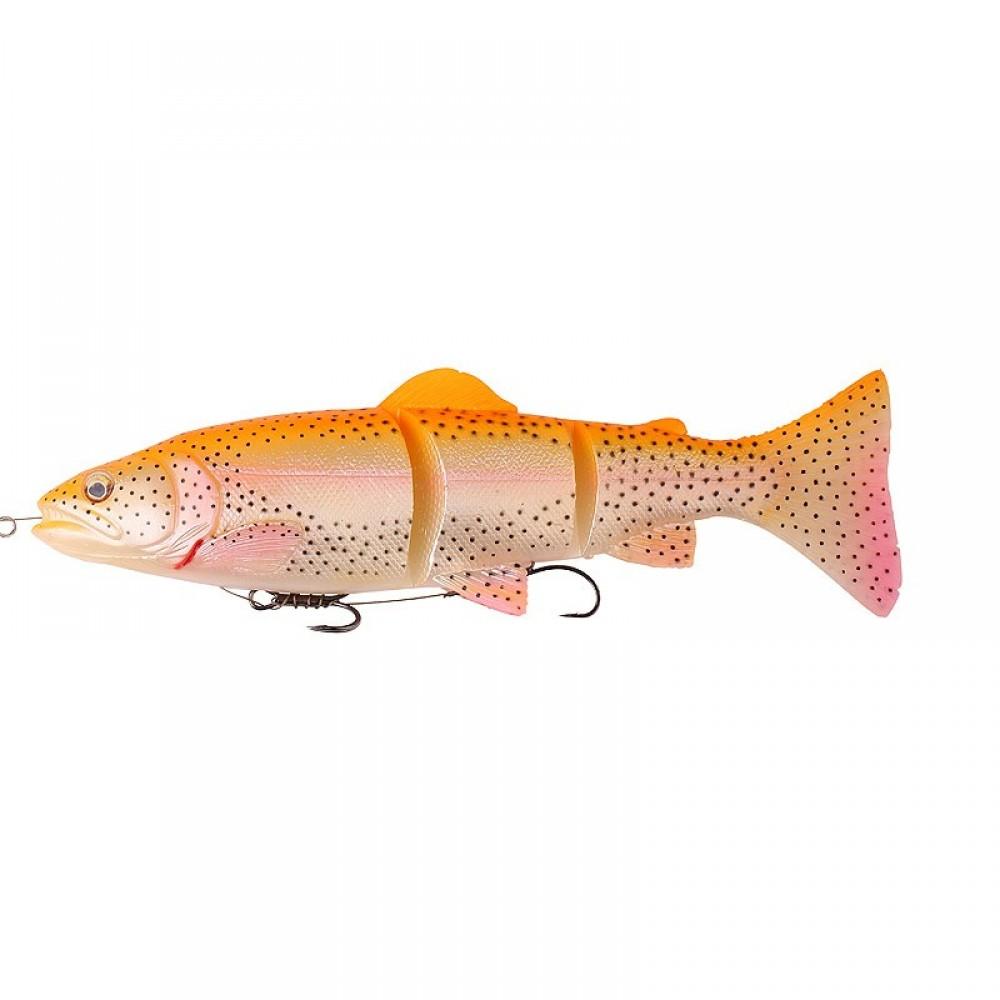 Savage Gear Line Thru Trout 3D Golden Albino Rainbow 15 cm