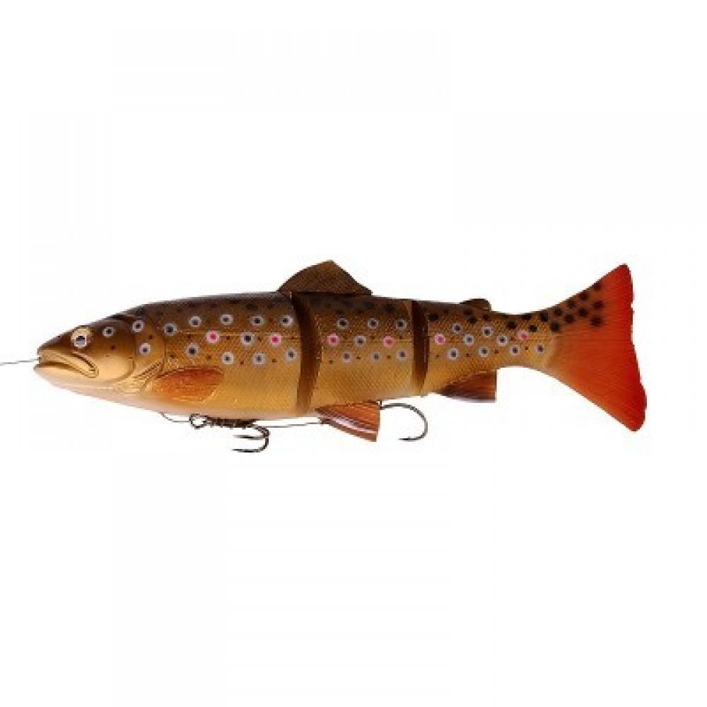 Savage Gear Line Thru Trout 3D Dark Brown Trout 15 cm