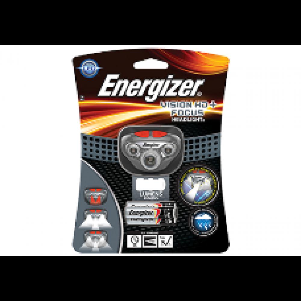 Energizer Pandelampe (headlight) 250 lumens + 3 AAA batterier