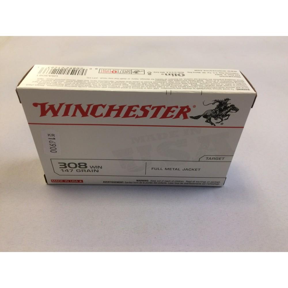 Winchester .308 w. 9,5 gram (147 Grains)