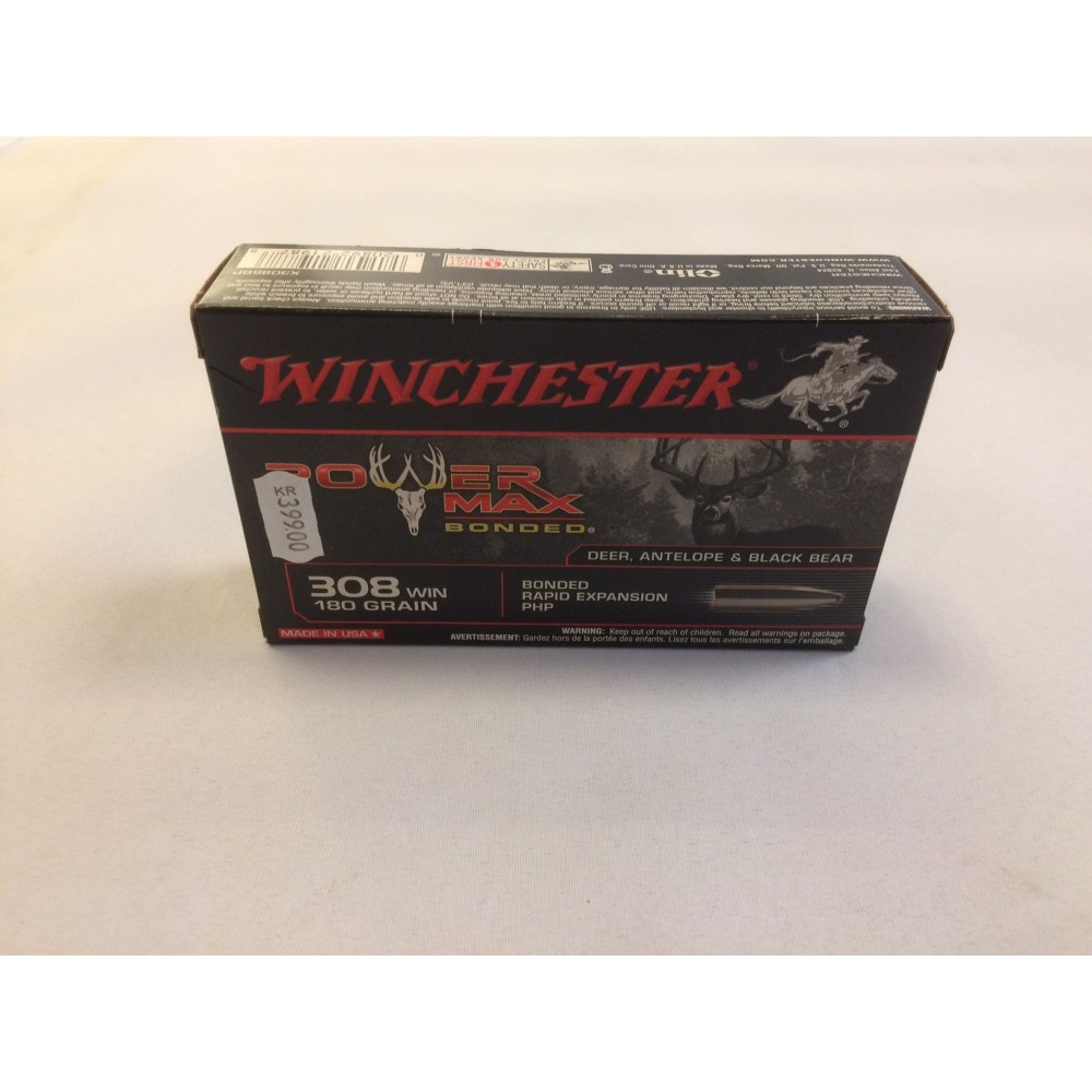 Winchester Power Max Bonded .308 w. 11,7 gram (180 Grains)