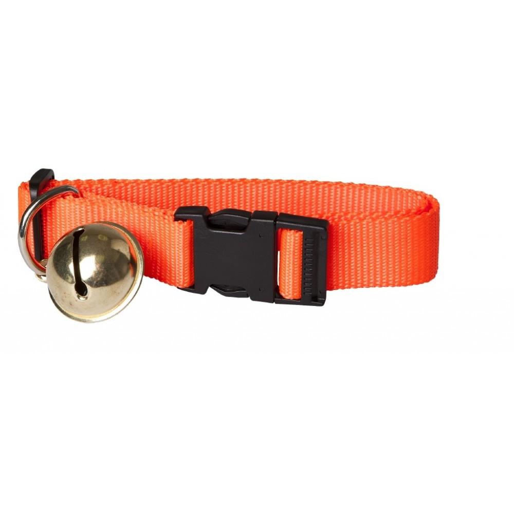 Orange Halsbånd i Webbing