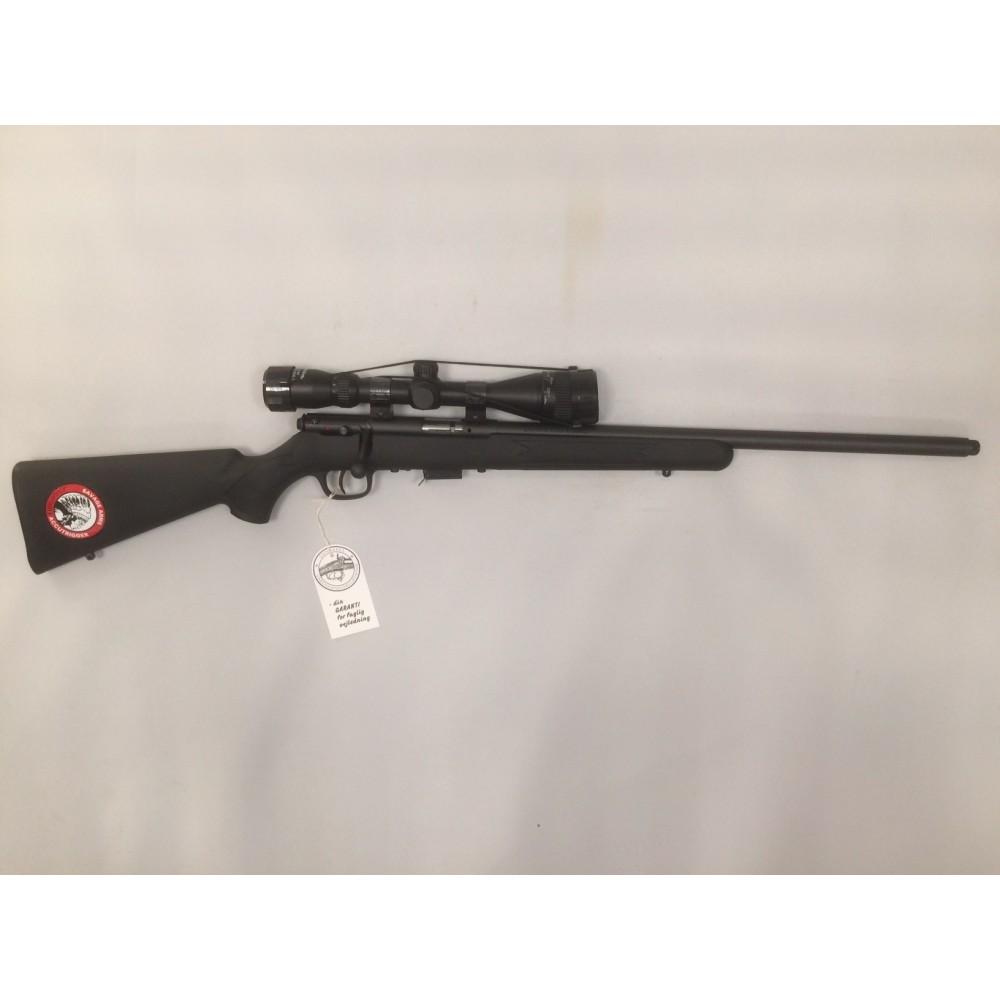 NY Savage 93 .17 HMR m/kikkert og lyddæmper UDSOLGT