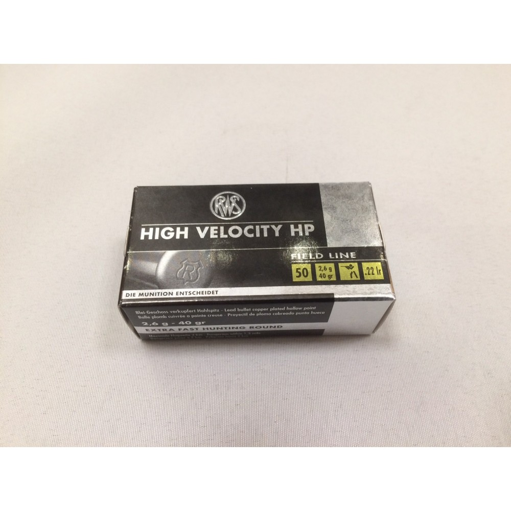 RWS High Velocity .22 lr HP (50 stk)