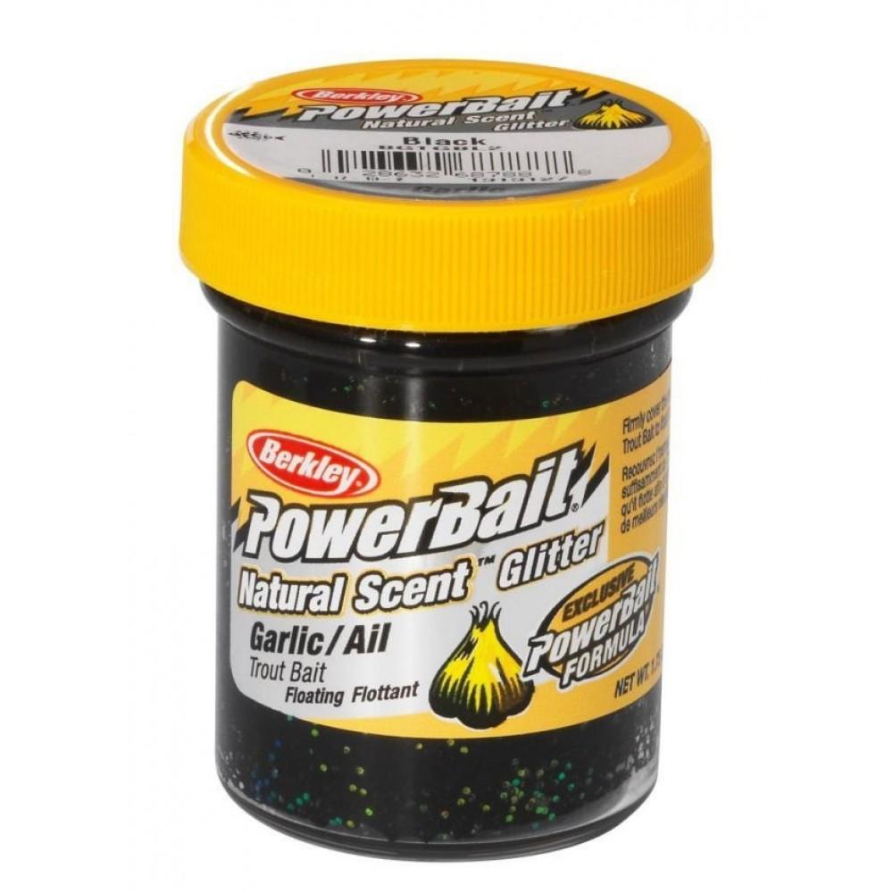 Berkley Powerbait Natural Scent Black Glitter Garlic